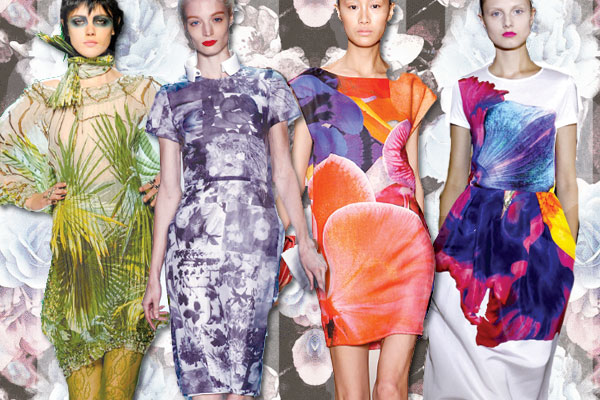 11 Spring photographic floral Runway Roundup | Spring 11 Trends