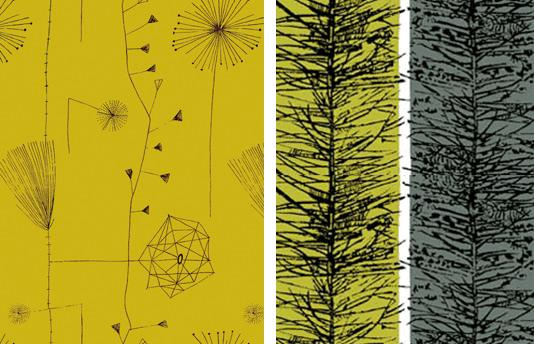 Lucienne Day Dandelion Clocks Larch1 Interiors | Post War Pattern Revival