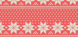 Nordic Print Pattern-Holiday Wrapping Paper