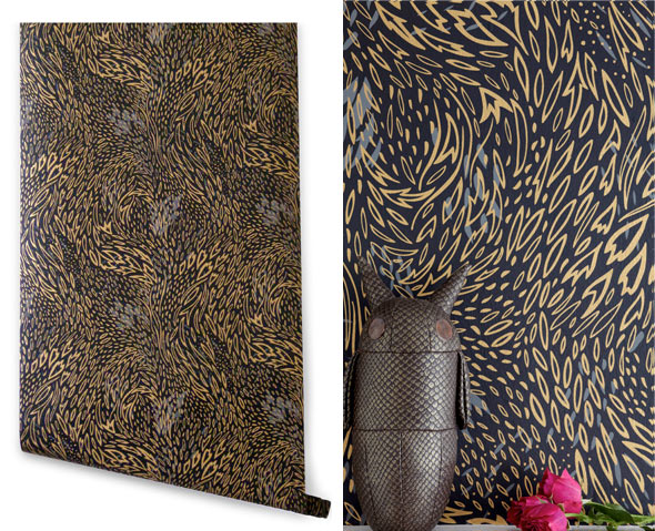 hygge leaves1 pattern people print studio. Black Bedroom Furniture Sets. Home Design Ideas