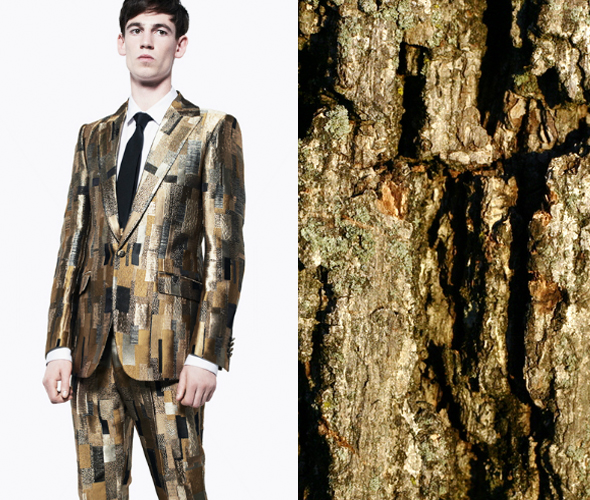 pattern pair alexander mcqueen bark SP13 Pattern Pairs | Alexander McQueen x Tree Bark