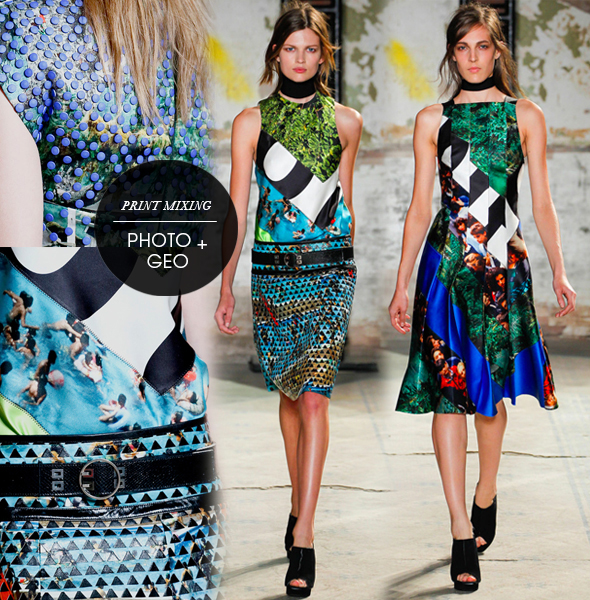 Proenza Schouler with reference to Mary Katrantzou and Basso &amp; Brooke