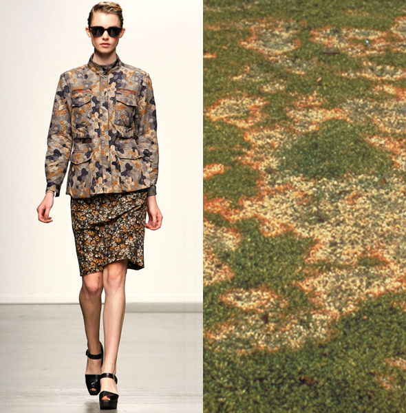 Rachel Comey SP13 | snow stains on grass