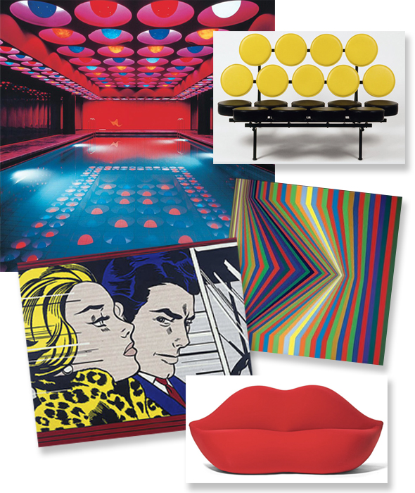 interiors pop art design pattern people. Black Bedroom Furniture Sets. Home Design Ideas