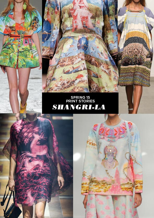 SPRING15 TRENDS SHANGRILA Runway | SS15 Print Stories