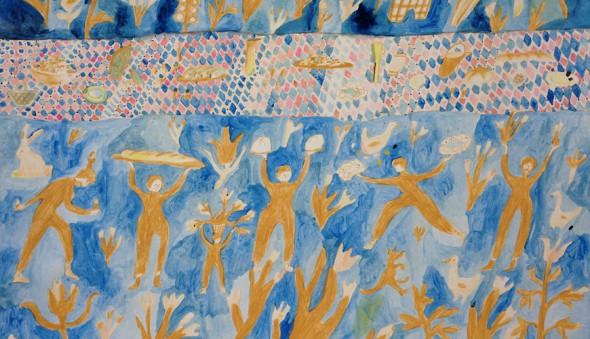 original artwork for Feast Blanket | Hillery Sproatt